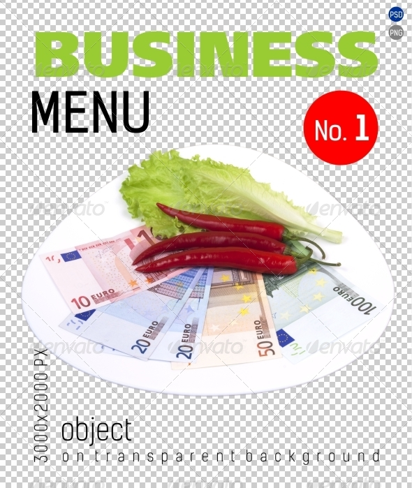Business Menu No.1 on Transparent Backgrounds - Food & Drink Isolated Objects