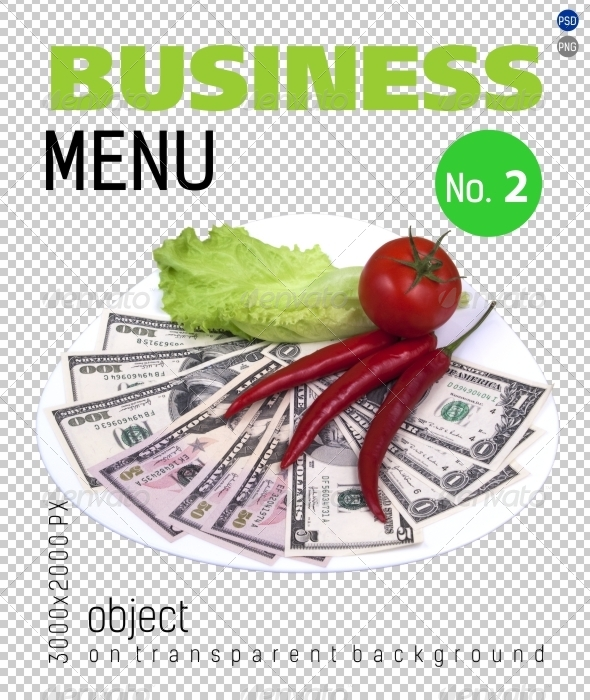 Business Menu No.2 on Transparent Backgrounds - Food & Drink Isolated Objects