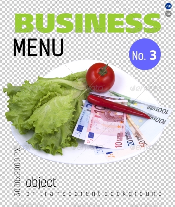 Business Menu No.3 on Transparent Backgrounds - Food & Drink Isolated Objects