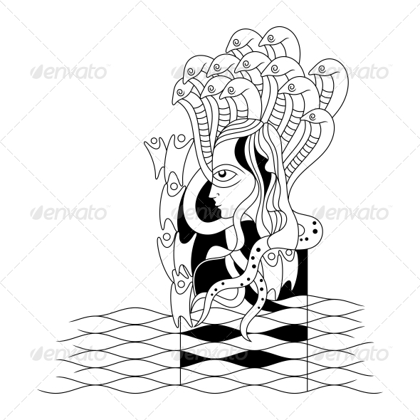 Hindu Lord Vishnu Religious Vector Design - Religion Conceptual