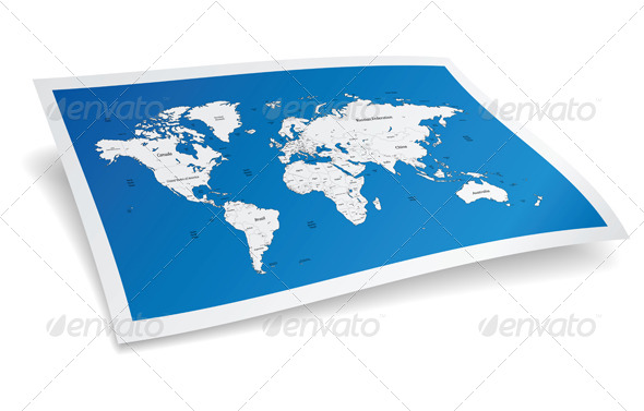 Blue Vector World Map - Miscellaneous Vectors