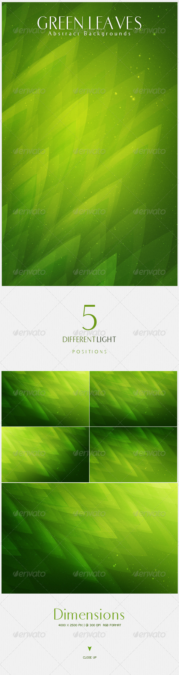 Green Leaves  Abstract Backgrounds | V4 - Nature Backgrounds