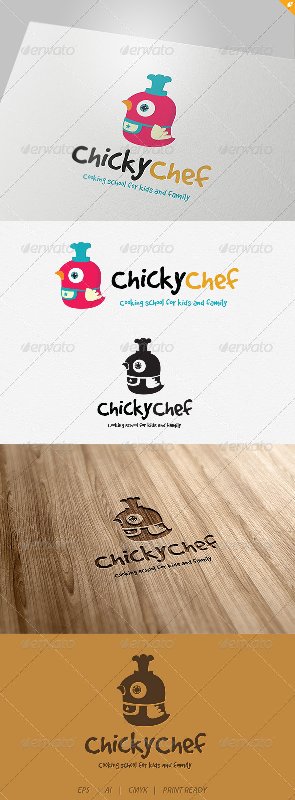 Chicky Chef Logo - Animals Logo Templates