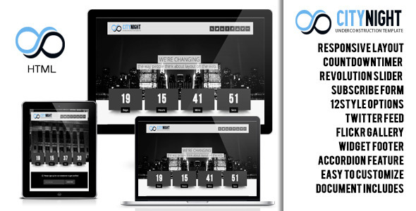Citynight  - Responsive Underconstruction Template - Under Construction Specialty Pages
