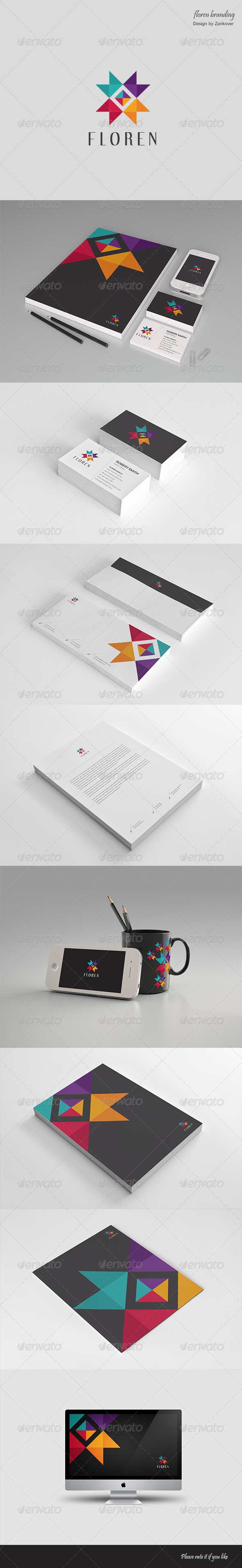 Stationary & Brand Identity - Floren - Stationery Print Templates