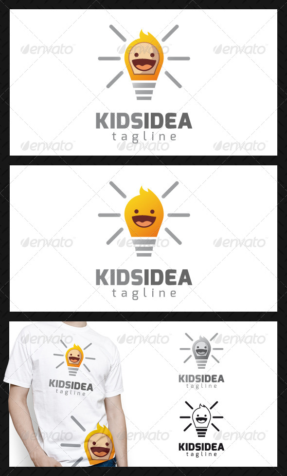 Kid Idea Logo Template - Humans Logo Templates