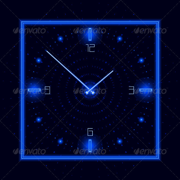 Neon Cosmic Clock - Miscellaneous Vectors