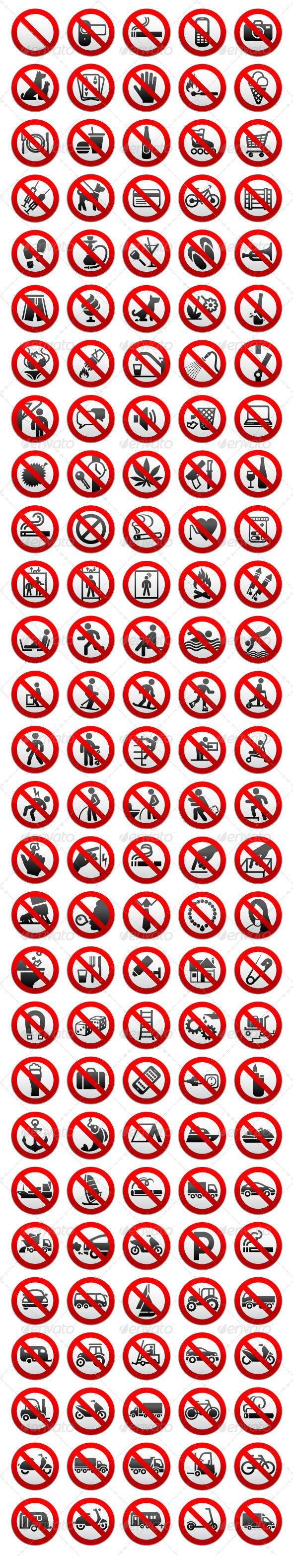 140 Prohibited Symbols - Decorative Symbols Decorative