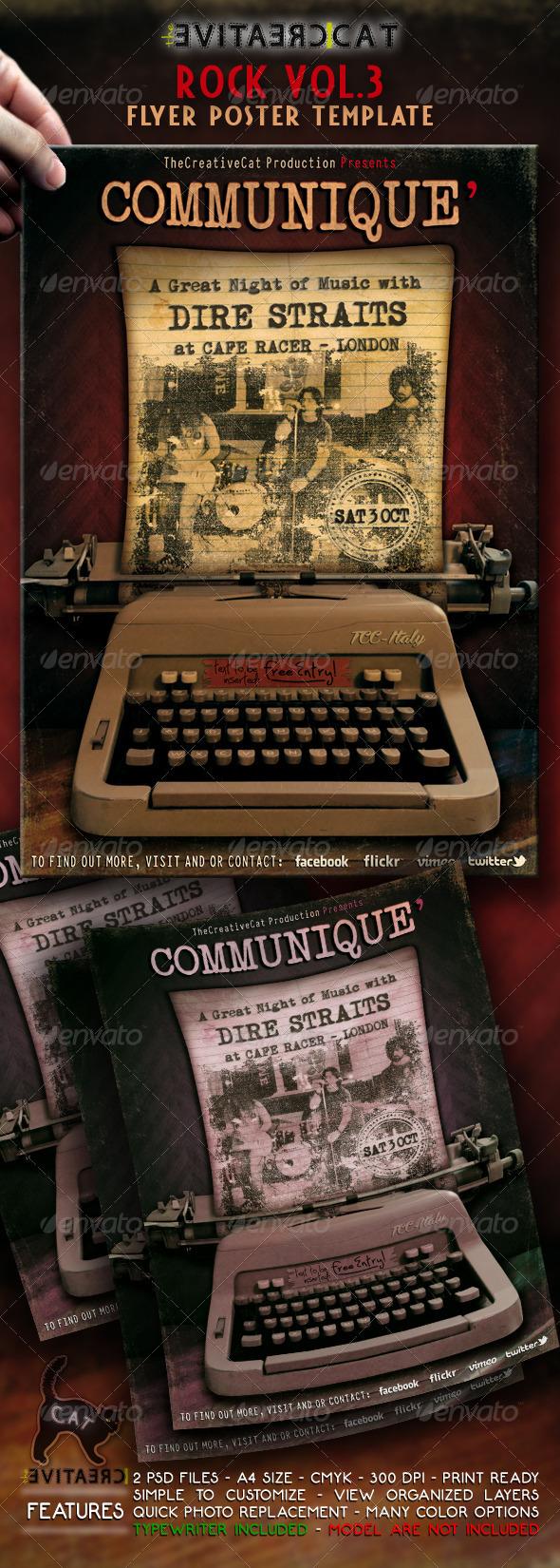 Rock Flyer/Poster Vol.3 - Events Flyers