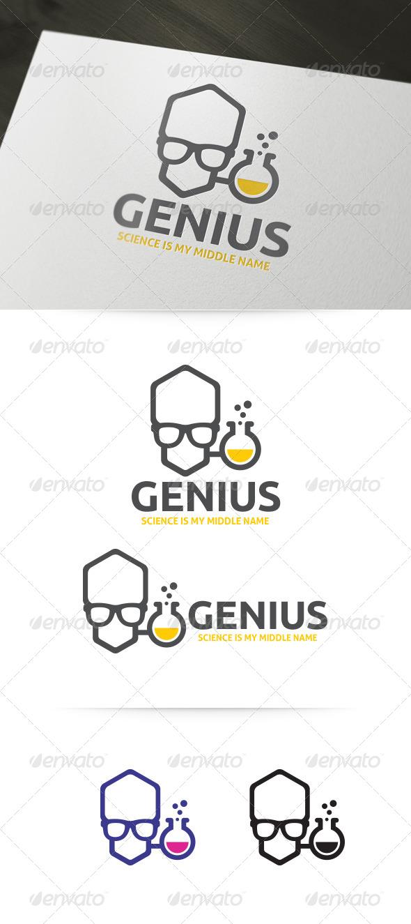 Genius - Lab Geek Logo Template - Humans Logo Templates
