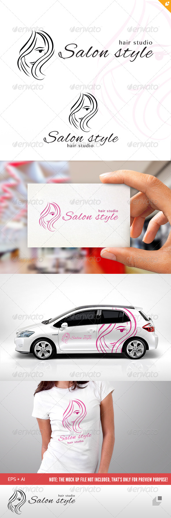 Salon Style Logo - Humans Logo Templates