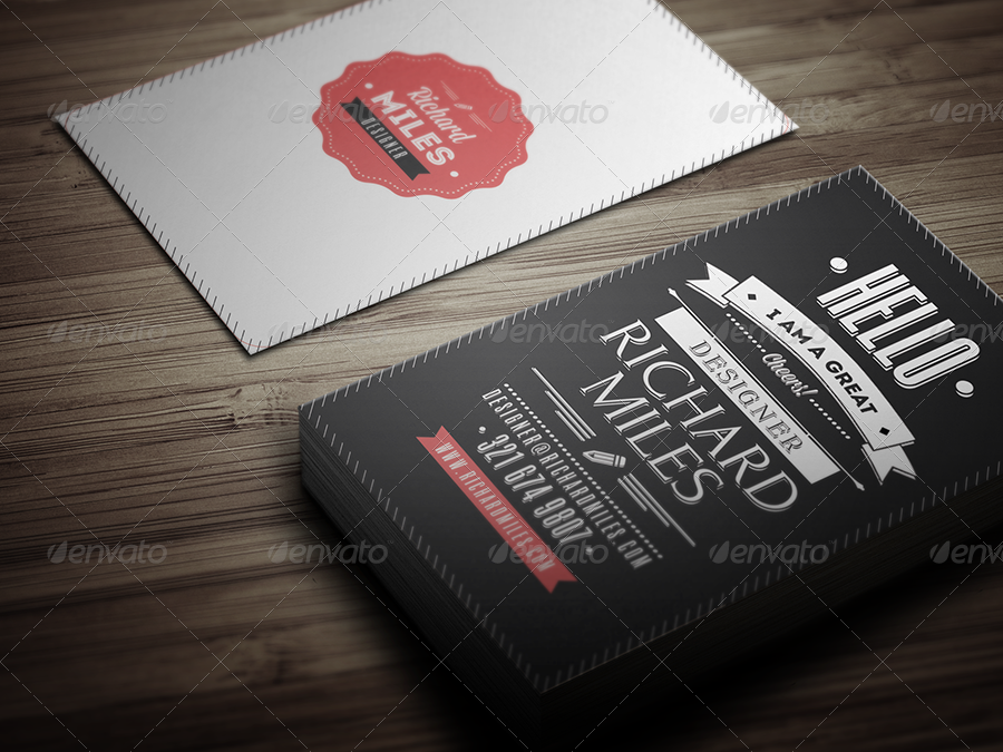 Retro Business Card by Realstar | GraphicRiver