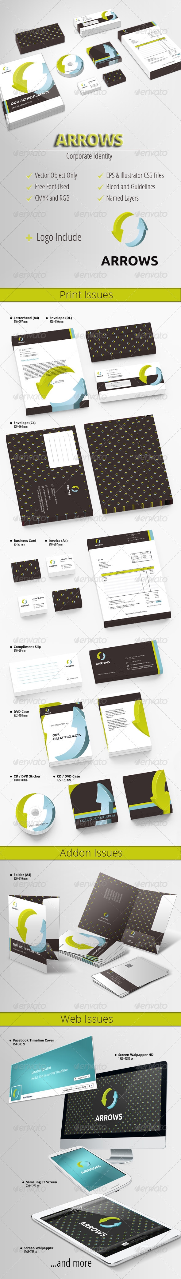 Arrows - Modern Corporate Identity - Stationery Print Templates