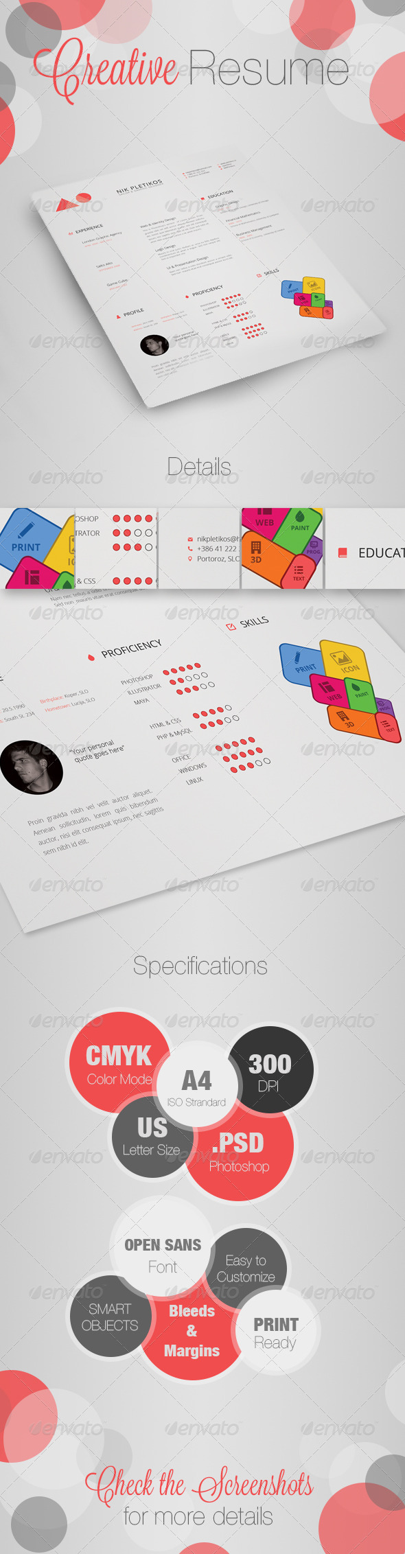 Creative Resume / CV - Resumes Stationery