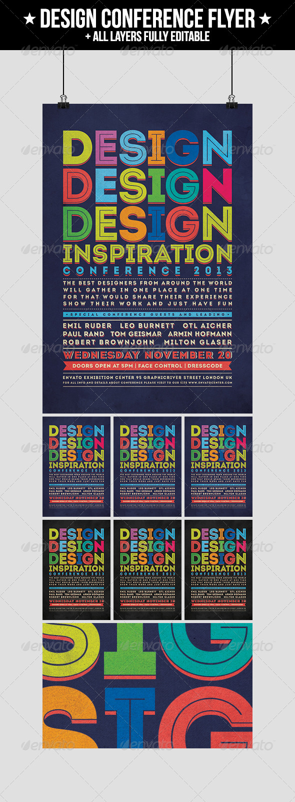 Design Conference Flyer - Events Flyers