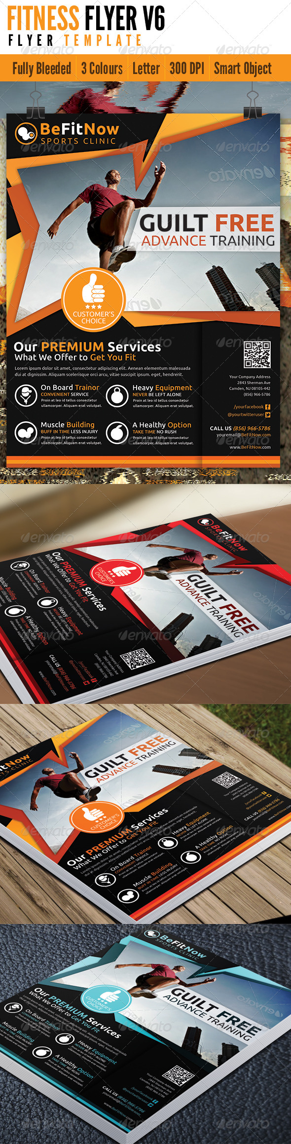 Fitness Flyer V6 - Flyers Print Templates