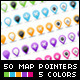 Set of 50 Glossy Web 2.0 Map Pointers  - GraphicRiver Item for Sale