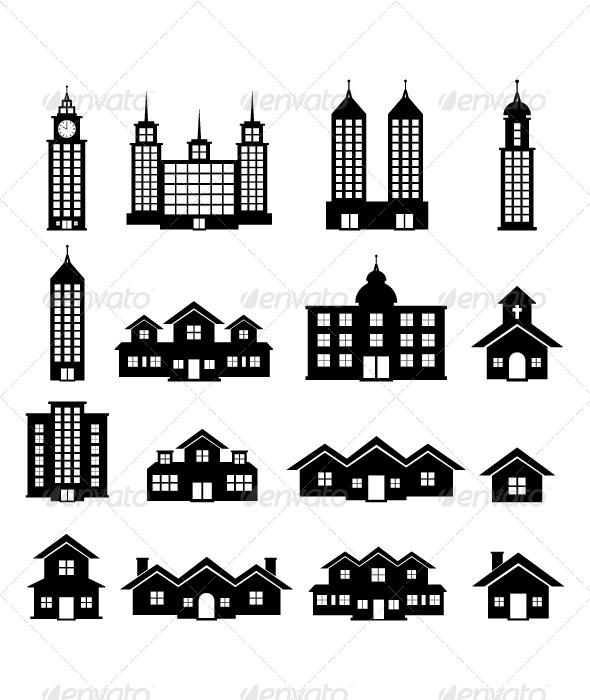 Building Black and White - Buildings Objects