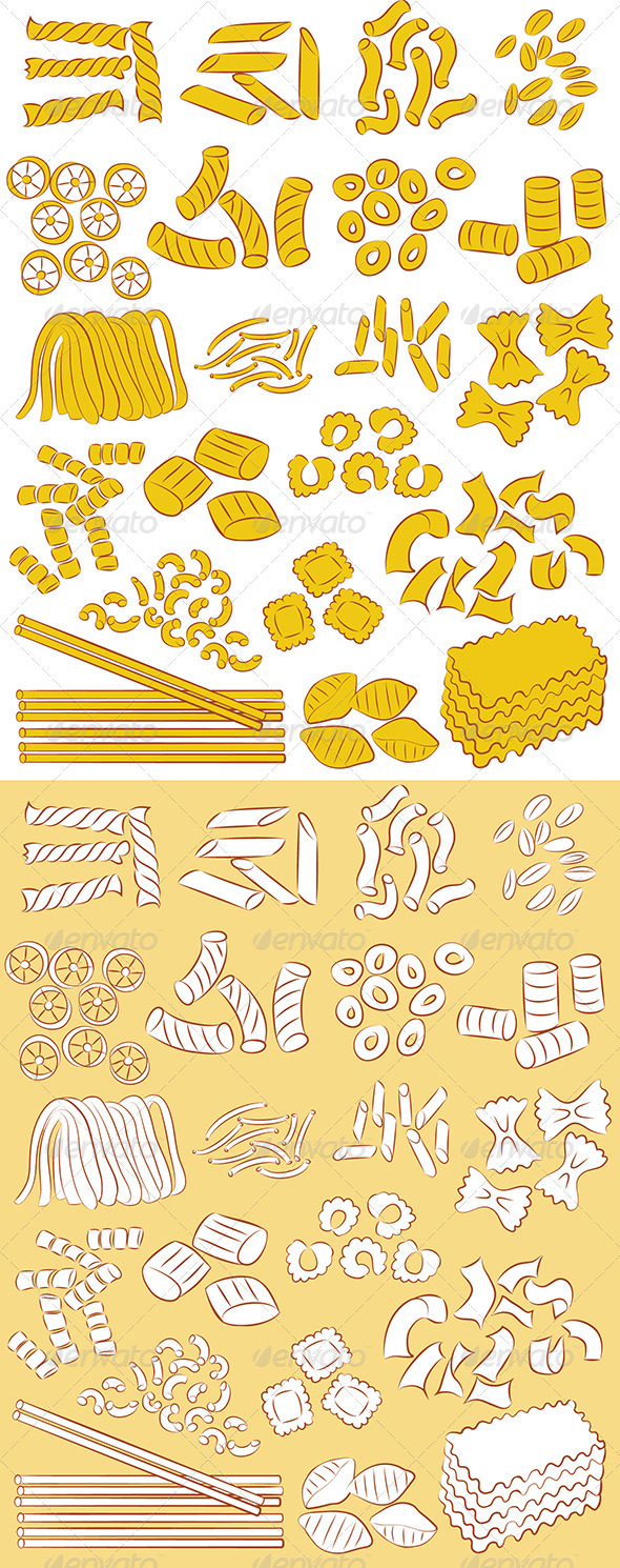 Pasta Vector - Food Objects