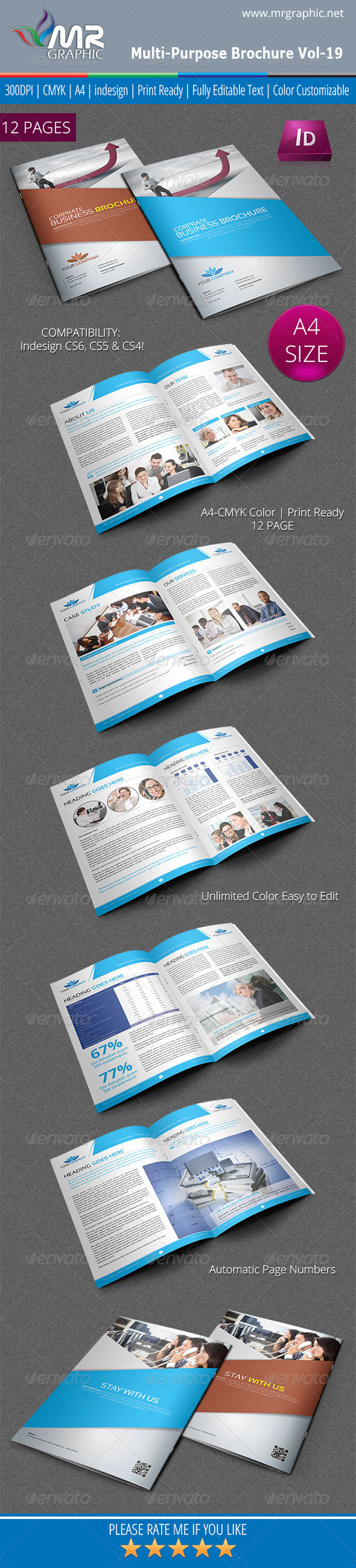 Multipurpose Business Brochure Template Vol-19 - Corporate Brochures