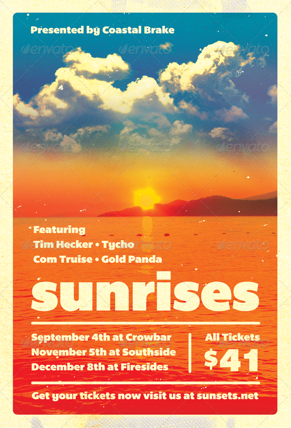 Sunrises - Summer Flyer Template - Clubs & Parties Events