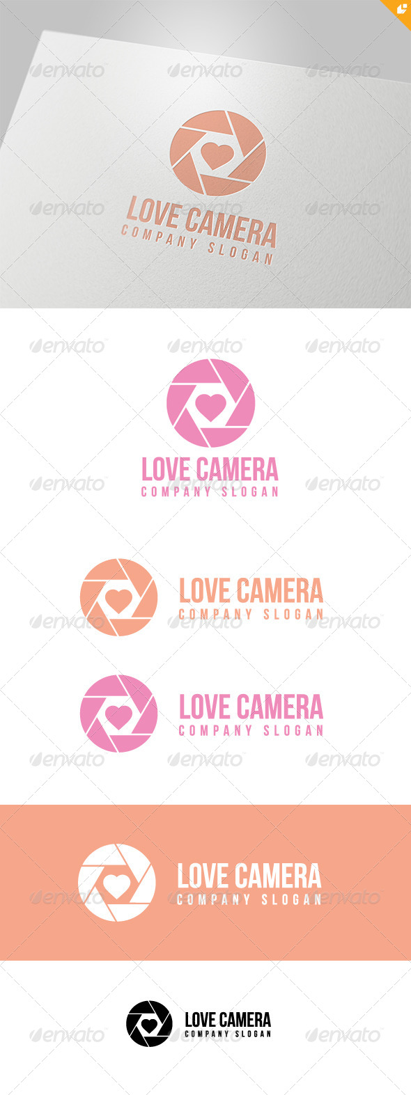 Love Camera Logo - Objects Logo Templates