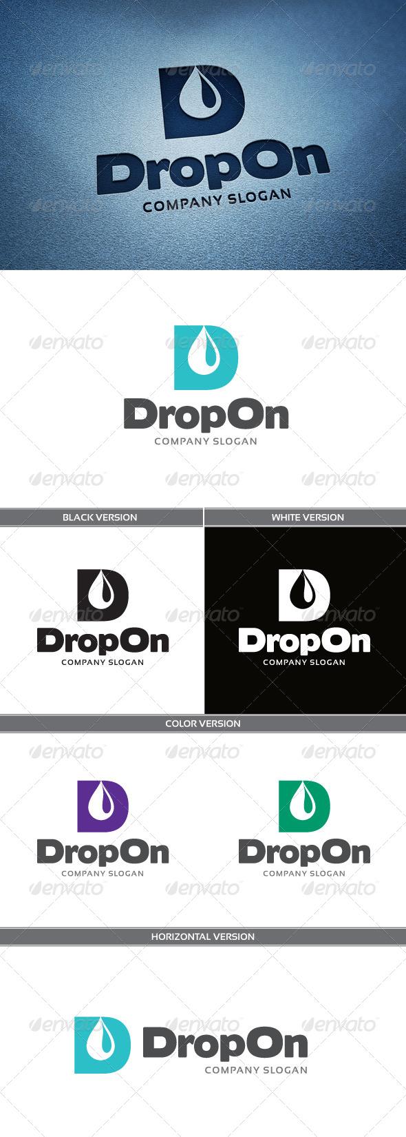DropOn Logo - Letters Logo Templates