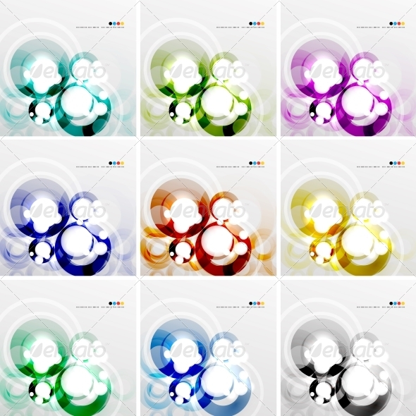 Colorful Circle Design Templates - Media Technology