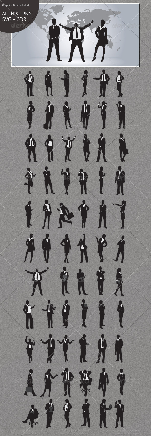Business People Silhouettes - Business Conceptual