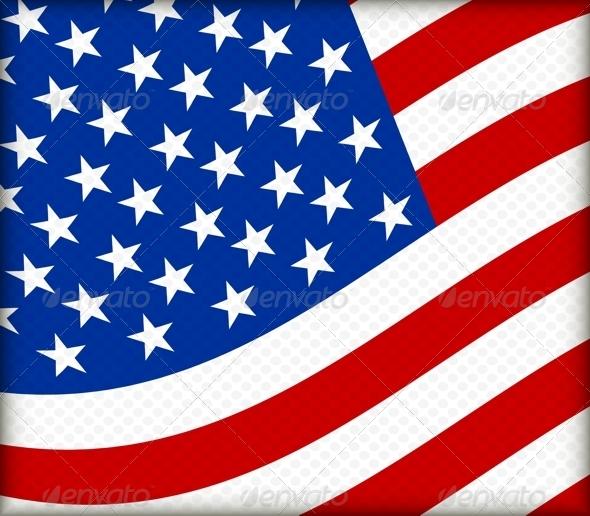 Flag of the USA - Decorative Symbols Decorative