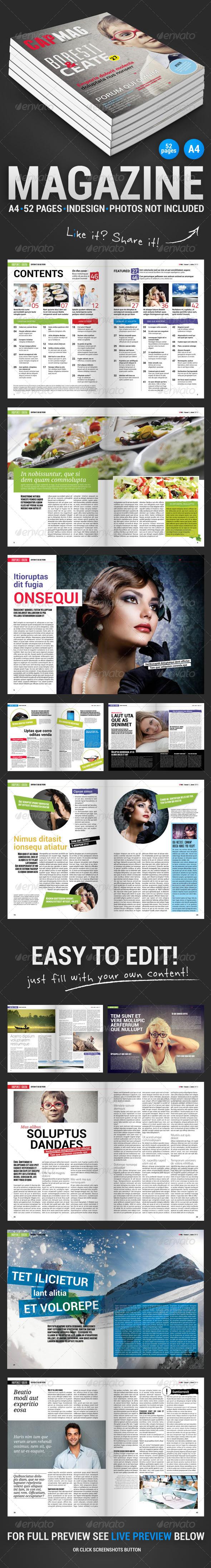 CapMag 52 Pages Magazine - Magazines Print Templates
