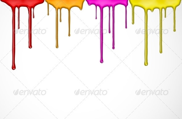 Colorful Paint - Web Elements Vectors