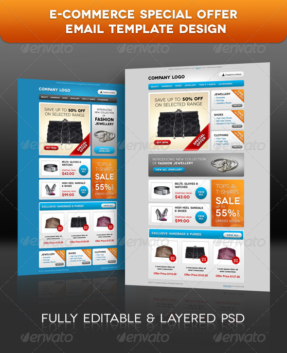 Ecommerce Special Offer Email Template Design By RGENESIS - Special offer email template