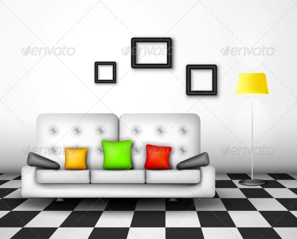 Vector Interior Design - Man-made Objects Objects