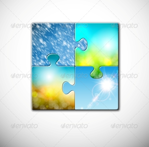 Seasons in Puzzle - Seasons Nature