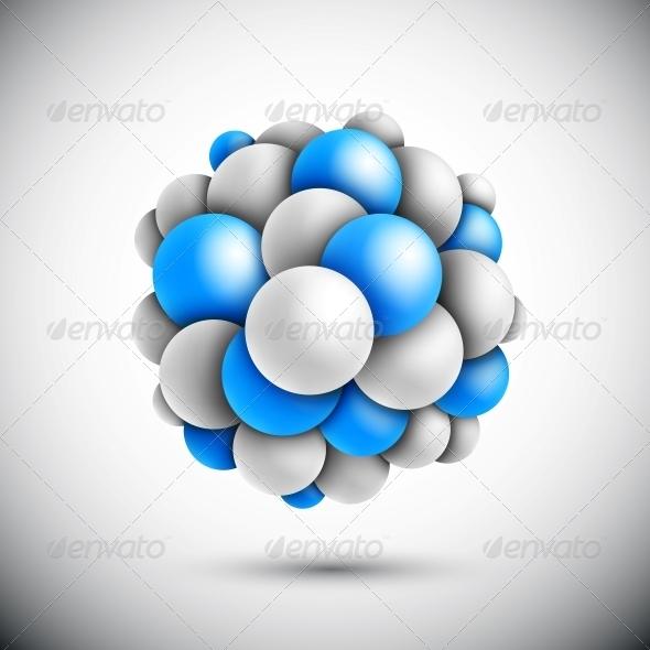 Sphere in Form of the Molecule - Health/Medicine Conceptual
