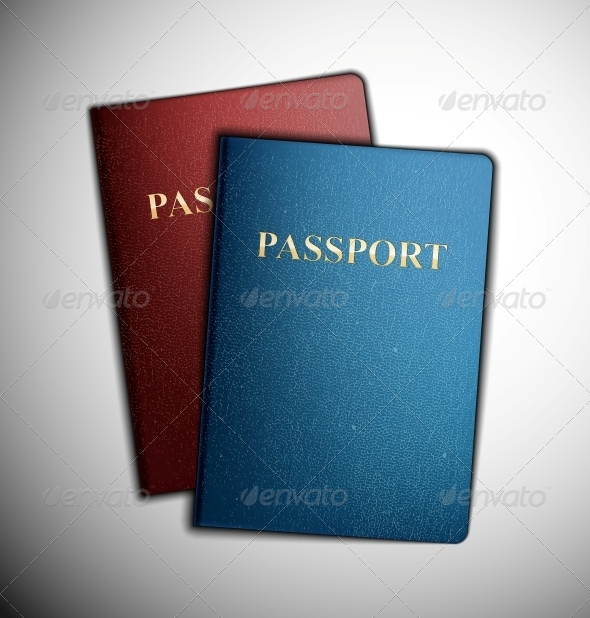 Two Passports - Man-made Objects Objects