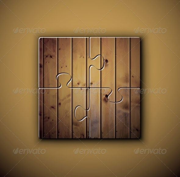 Wooden Background on Puzzle - Backgrounds Decorative