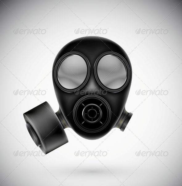 Isolated Gas Mask - Man-made Objects Objects