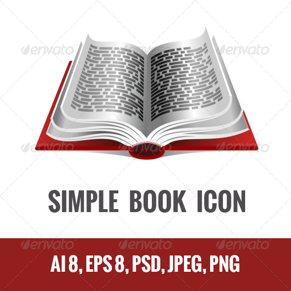 Book Icon - Man-made Objects Objects