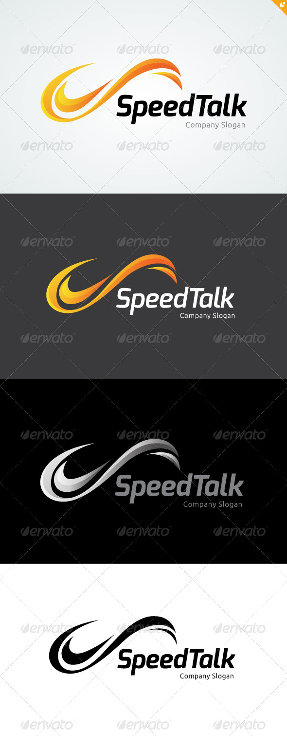 Speed Talk Logo - 3d Abstract