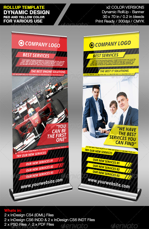 Dynamic Company RollUp Banner - Signage Print Templates