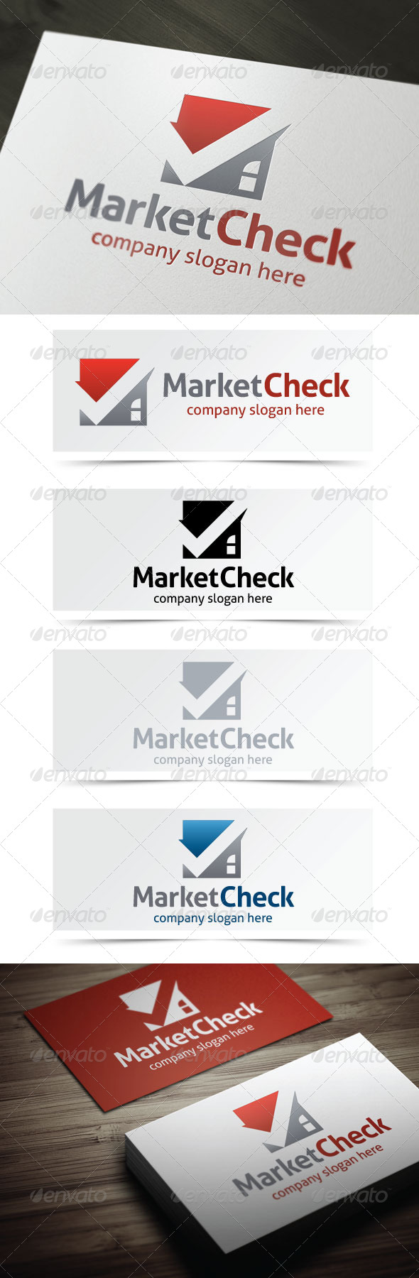 Market Check - Buildings Logo Templates