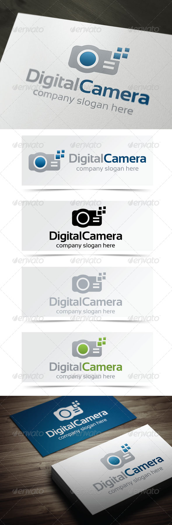 Digital Camera - Objects Logo Templates