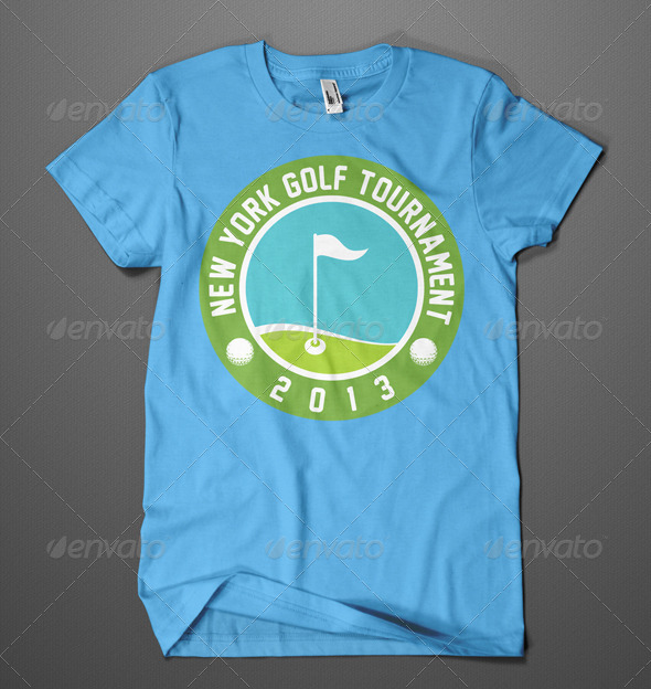 Golf Tournament T Shirt Design By Gangzar Graphicriver