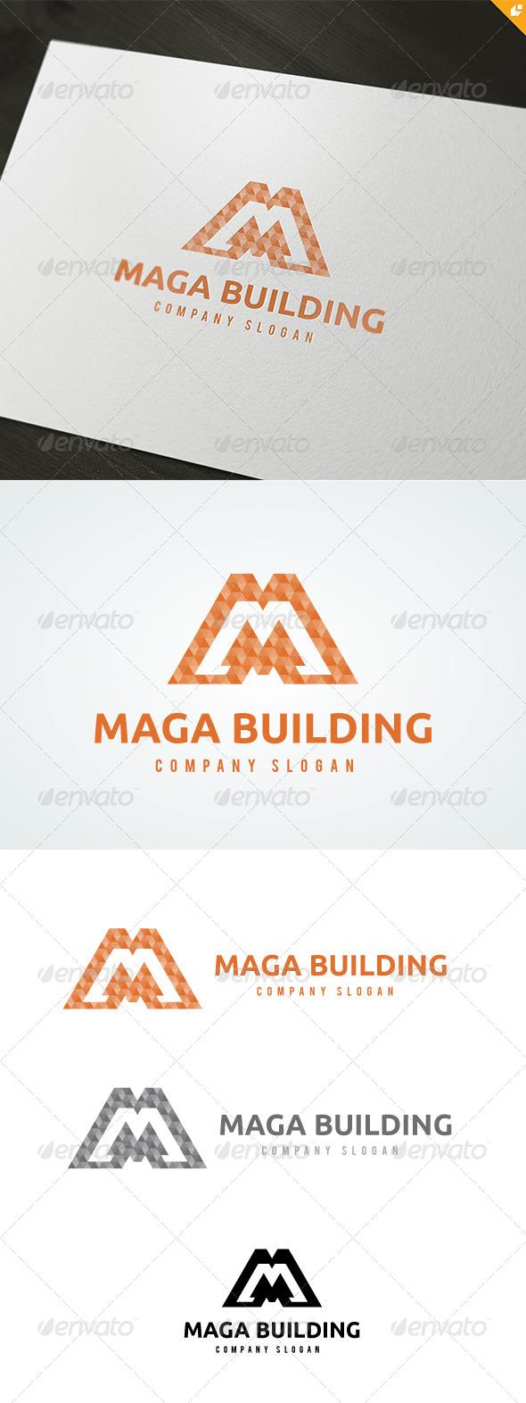 Maga Building Logo - 3d Abstract
