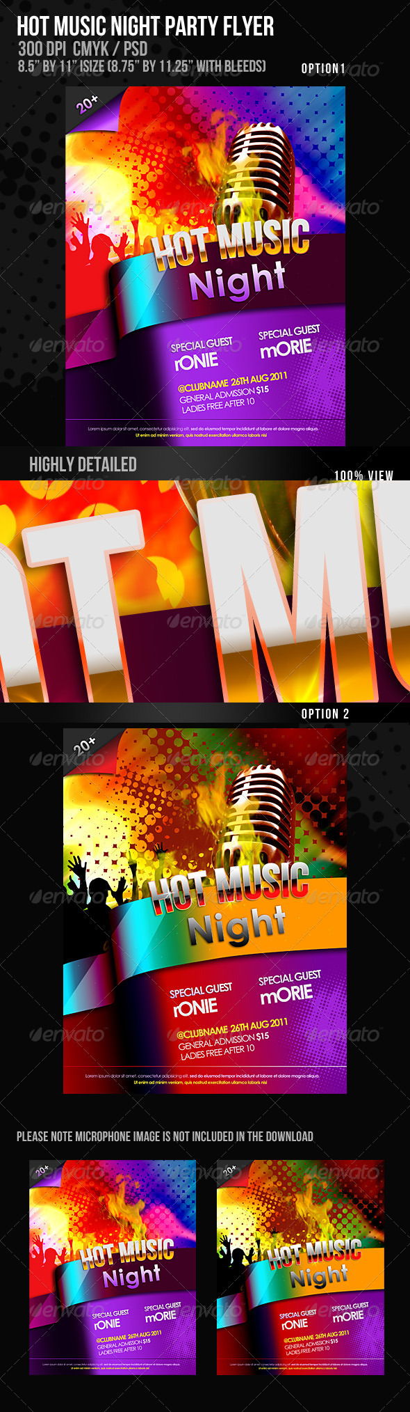 Hot Music Night Flyer - Clubs & Parties Events