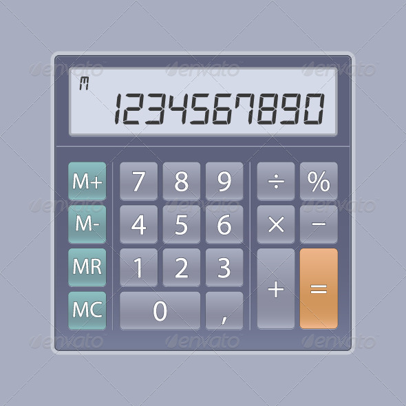 Calculator for UI - Web Elements Vectors