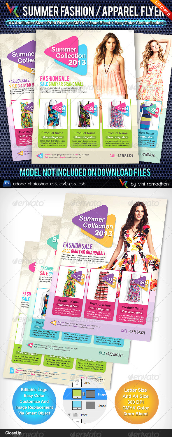 Summer Fashion Collection Flyer - Commerce Flyers
