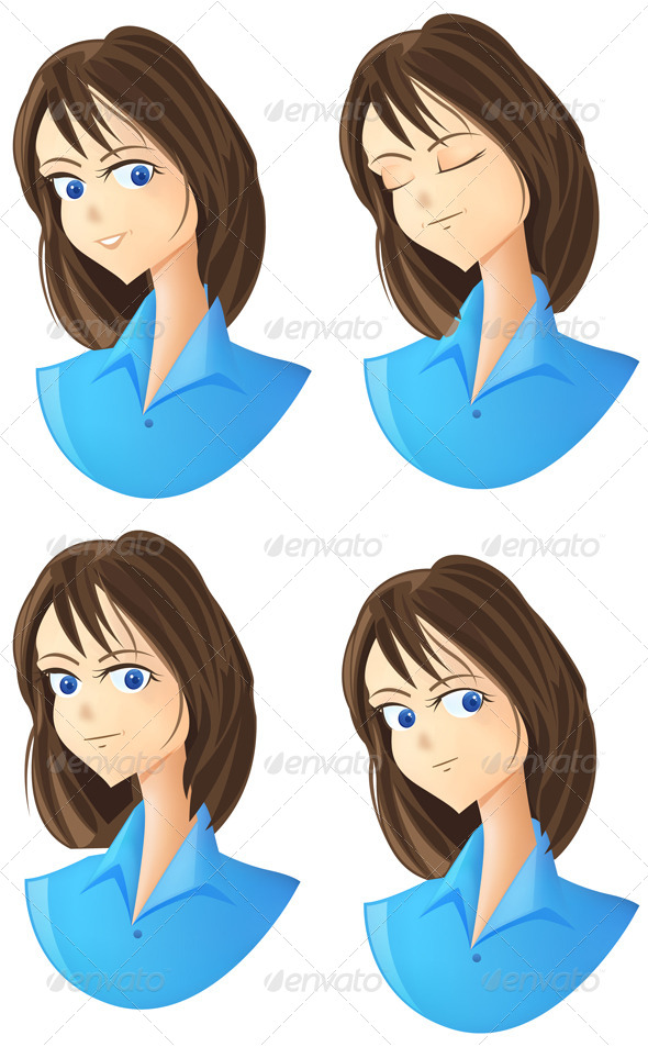 Character Expression Icon Set - People Characters